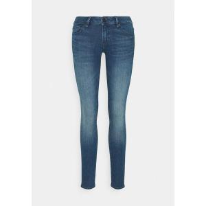 【当日出荷】 ジースター レディース 3301 LOW SUPER SKINNY - Jeans Skinny Fit - faded neptune blue 【サイズ 27x30】 astyshop