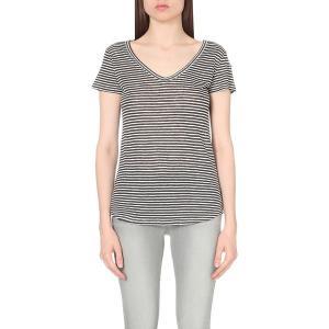 ペイジプレミアムデニム Tシャツ レディース lynnea linen-jersey t-shirt PHANTOM【サイズ S】 astyshop