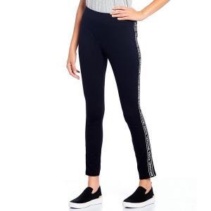 【当日出荷】 マイケルコース レディース MICHAEL Michael Kors Ponte Knit Logo Tape Side-Seam Leggings Black 【サイズ M】 astyshop