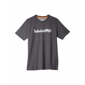 【当日出荷】 ティンバーランド メンズ Base Plate Short Sleeve T-Shirt with Logo - Tall Dark Charcoal Heather 【サイズ XXL】|astyshop