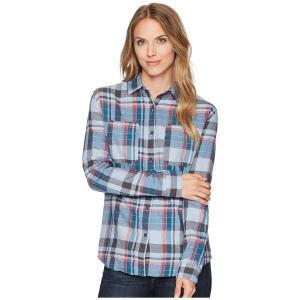 【当日出荷】 ノースフェイス レディース Long Sleeve Castleton Shirt Dusty Blue Sierra Plaid 【サイズ L】 astyshop