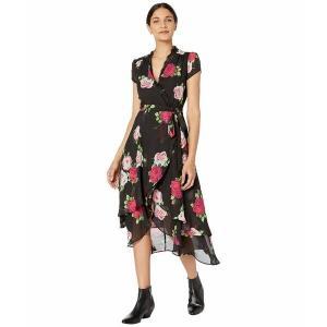 【当日出荷】 ベッツィジョンソン レディース Floating Roses Faux Wrap Dress with Lace Neckline Floral Bouquet 【サイズ 6】 astyshop