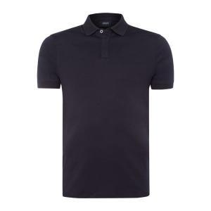 【即日出荷】アルマーニジーンズ ポロシャツ メンズ Mercerised Textured Collar Polo Shirt navy 【サイズ M】|astyshop