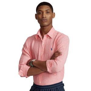 【当日出荷】 ラルフローレン メンズ Men's Classic-Fit Linen Shirt Salmon 【サイズ M】 astyshop