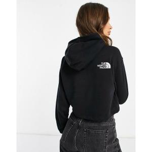 【当日出荷】 ノースフェイス レディース The North Face Trend Drop cropped hoodie in black TNF black 【サイズ M】|astyshop