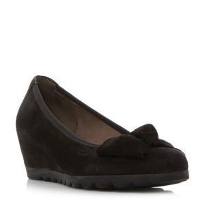 ガボール スニーカー レディース Gable Cleated Sole Bow Detail Pump Shoes blac【サイズ 7】|astyshop