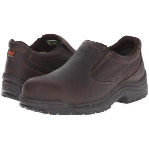 【当日出荷】 ティンバーランド メンズ TiTAN Slip-On Alloy Safety Toe Camel Brown Oiled Full-Grain Leather 【サイズ 27cm】|astyshop