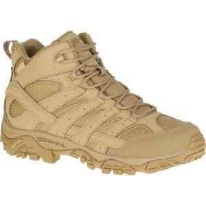 【当日出荷】 メレル メンズ Moab 2 Mid Tactical Waterproof Hiking Boot Coyote Waterproof Leather/Ripstop Textile 【サイズ 27.5cm】|astyshop