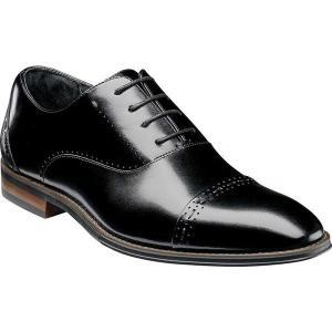 【当日出荷】 ステイシーアダムス メンズ Barris Cap Toe Oxford 25190 Black Smooth Leather 【サイズ 8M】|astyshop