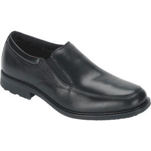 【当日出荷】 ロックポート メンズ Essential Details Waterproof Slip On Black Leather 【サイズ 28cm】|astyshop