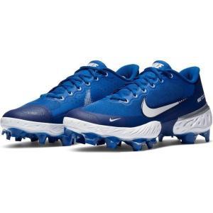 【当日出荷】 ナイキ メンズ 野球 Nike Men's Alpha Huarache Elite 3 Low MCS Baseball Cleats Royal/White 【サイズ 28cm】|astyshop