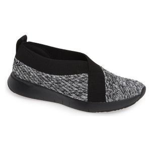 【当日出荷】 フィットフロップ レディース FitFlop Artknit Ballet Flat (Women) Black Mix Fabric 【サイズ US7】|astyshop