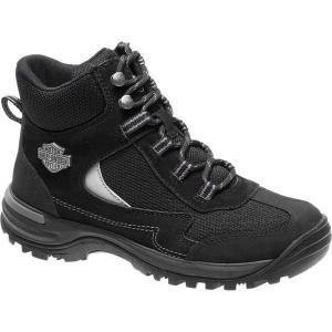 【当日出荷】 ハーレーダビッドソン レディース Waites Composite Toe Shoe Black Full Grain Leather/Mesh 【サイズ US8M】|astyshop