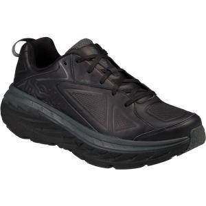 【当日出荷】 ホッカオネオネ メンズ Bondi LTR Walking Shoe Black Full Grain Leather 【サイズ 25cm(小さめ)】|astyshop