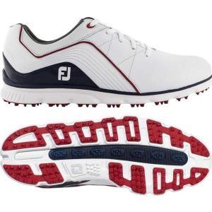 【当日出荷】 フットジョイ メンズ FootJoy Men's 2019 Pro/SL Golf Shoes (Previous Season Style) White/Navy/Red 【サイズ 10.5-Wide】 astyshop