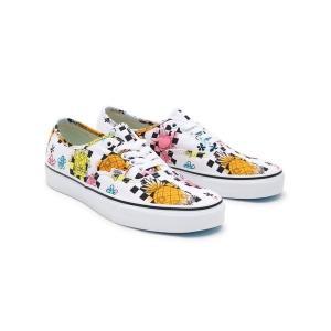 【当日出荷】 バンズ メンズ Vans x Spongebob Authentic Airbrush sneakers in white white 【サイズ US9】|astyshop