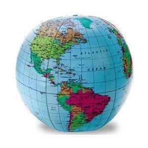地球儀ビーチボール/World Medium Beach Ball(Inflatable Globe)/グローブボール/英語表記|asukabc-online