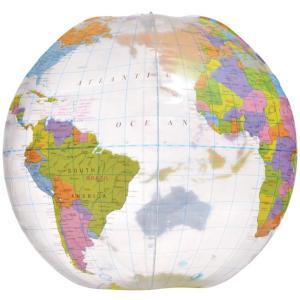 地球儀ビーチボール/World Beach Ball(Inflatable Globe)/グローブボール/クリアタイプ|asukabc-online