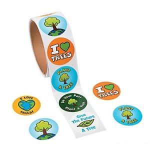 アースデーステッカー/I Planted a Tree Stickers/ロールステッカー/緑の日/みどり/地球|asukabc-online