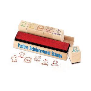 英語スタンプ6個セット(木製)/Educational Insights Positive Reinforcement Stamps/教師/小学 中学 高校|asukabc-online
