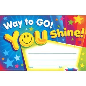 こどもの表彰状 WAY TO GO! YOU SHINE! asukabc-online