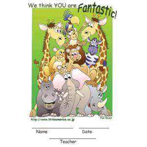 こどもの表彰状 WE THINK YOU ARE FANTASTIC! asukabc-online