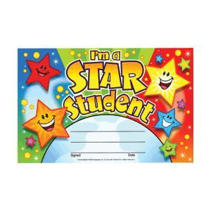 こどもの表彰状 I'M A STAR STUDENT asukabc-online