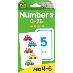 フラッシュカード:NUMBERS 0-25/ナンバー(数字)/英語の先生におすすめ! asukabc-online