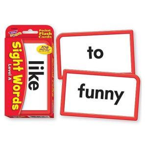 フラッシュカード:SIGHT WORDS LEVEL A/英単語サイトワード asukabc-online