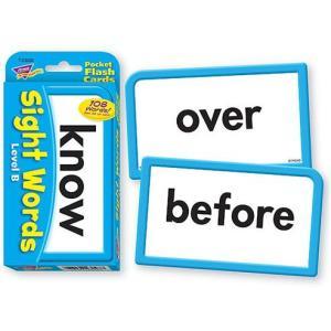 フラッシュカード:SIGHT WORDS LEVEL B/英単語サイトワード asukabc-online