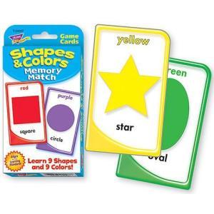 英語カードゲーム:SHAPES & COLORS MEMORY MATCH(英語で神経衰弱)|asukabc-online