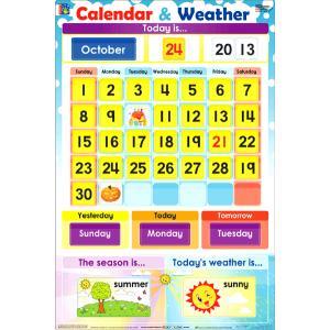 カレンダー:CALENDAR & WEATHER (HANDS-ON INTERACTIVE CHART)|asukabc-online