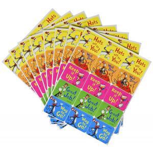 キャット イン ザ ハット(ハットしてキャット)/英語のコメントステッカー(120個)/Dr. Seuss Stickers|asukabc-online