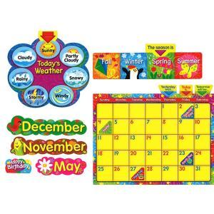 英語表現カレンダー:STARS `N SWIRLS CALENDAR (WIPE-OFF BULLETIN BOARD SET)|asukabc-online