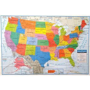 アメリカ合衆国の大判地図ポスター:UNITED STATES OF AMERICA WALL MAP/英語のアメリカマップ