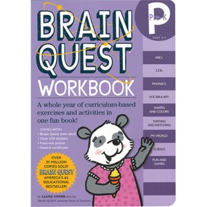 BRAIN QUEST WORKBOOK: PRE-K/アルファベット教材/書く練習/クイズ/ステッ...