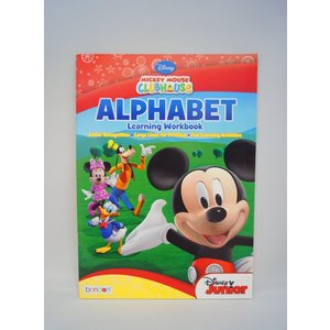Mickey Mouse Clubhouse Alphabet Learning Workbook ディズニーの英語教材|asukabc-online
