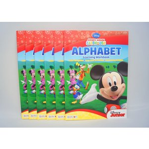 Mickey Mouse Clubhouse Alphabet Learning Workbook ディズニーの英語教材|asukabc-online|02