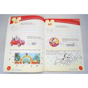Mickey Mouse Clubhouse Alphabet Learning Workbook ディズニーの英語教材|asukabc-online|03