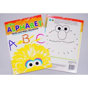 セサミストリート英語練習帳/何度も書ける/Sesame Street Write-On Wipe-Off Workbook|asukabc-online