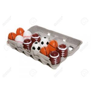 スポーツ型イースターエッグ12個入り/玉子/サッカーボール/野球ボール/Easter eggs sports asukabc-online