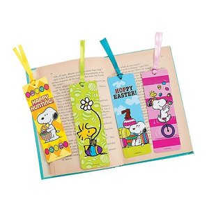 Peanuts Easter Bookmarks/スヌーピーのイースターしおり(24枚入り)/ブックマーク asukabc-online
