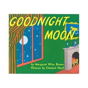 """赤い風船がある大きな緑の部屋で,子ウサギはお休みの準備をしています。  """"Goodnight roo..."""