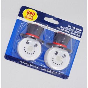 2個入り!雪だるまのLEDキャンドル/電池式LEDローソク/クリスマス電飾/スノーマン|asukabc-online
