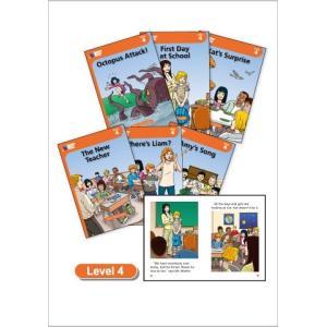 レベル4/各20ページ/6冊セット/CD1枚付き   レベル4からは多読用リーダーです。Amy,Be...