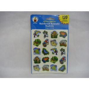 Rainforest Animals Stickers 120 熱帯雨林|asukabc-online