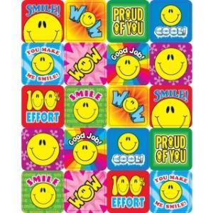 【120個】SMILE FUN/スマイルステッカー/にこちゃんシール/英語ステッカー|asukabc-online