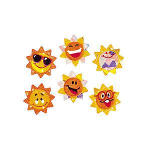 太陽のステッカー SUNNY SMILES/英語ステッカー/おひさまシール|asukabc-online