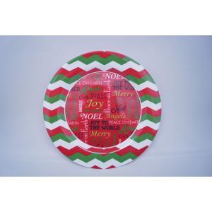 クリスマスの冬の大皿プレート/X'mas Winter Plate/お皿(赤)|asukabc-online