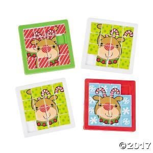 トナカイのスライドパズル/Reindeer Slide Puzzles/クリスマスのパズル|asukabc-online